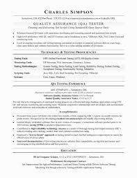 Testing Resume Format For Experienced Best Of 46 Luxury Testing