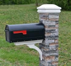brick mailbox flag. Delighful Brick Mailbox Post Repair Kit Brick Flag Makeover U  And Brick Mailbox Flag