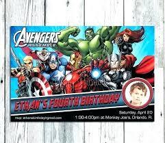 Personalized Superhero Birthday Invitations Avengers Birthday Invitations The Party Surprising Design
