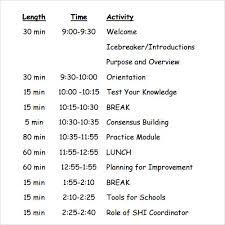 Sample Of Agenda Sample Agenda Template 41 Download Free Documents In Pdf