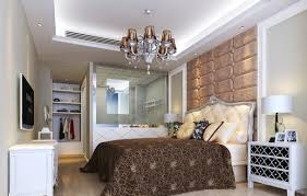 classic master bedroom with bathroom and closet
