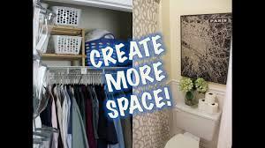space saving ideas closet bathroom makeover