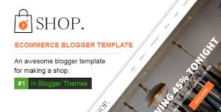 Free Ecommerce Website Templates Interesting Rshop Ecommerce Responsive Blogger Template By Raintemplates