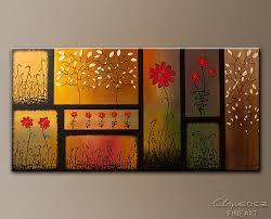 flowers abstract art paintings joyful garden art canvas