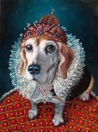 regal beagle pet in costume custom pet portrait oil painting by puci 16x20