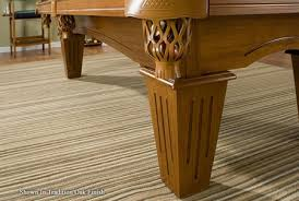 pool table on an area rug