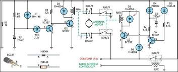 wiring diagram for car up down timer for a power antenna up and down timer for a power antenna circuit schematic