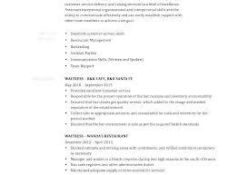 Waitressing Resume Example Waitress Resume Englishor Com