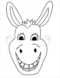 Donkey Mask Template animal mask template animal templates free & premium templates on happy face mask template