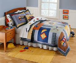Construction Time Bedding for Boys Twin Size 2pc Quilt Set - Kids ... & PEM America bedding at Kohl's - This kids' PEM America Construction twin  quilt set features plaid, patchwork, construction equipment appliques and  ... Adamdwight.com