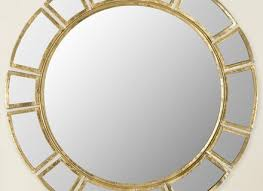 round decorative wall mirror brass project target throughout gold
