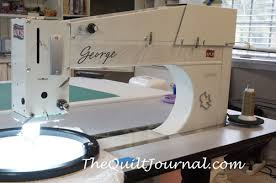 Sit Down Longarm APQS George Review - The Quilt Journal & A picture of the APQS George sit sown longarm Adamdwight.com
