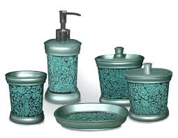 turquoise bathroom accessories bathroom ware teal blue vanity bathroom set any gifts ideas for him her turquoise bathroom rug set