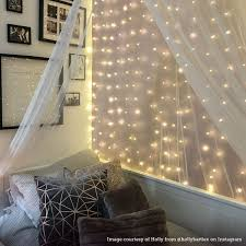 Bedroom Bright Lights 2m X 2m Plug In Copper Firefly Wire Curtain Lights 400 Warm