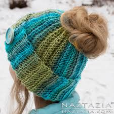 Crochet Bun Hat Free Pattern Cool Crochet Ribbed Bun Hat By Donna Wolfe From Naztazia