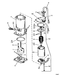 Pump motor assembly 819480a1 for force trim and tilt models 85 thru 150 hp