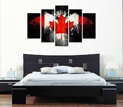 black eagle canadian flag with maple leaf on wall art canvas prints canada with black eagle canadian flag with maple leaf canada country flags