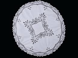 classic round lace tablecloths d1868456 white lace round table topper inch