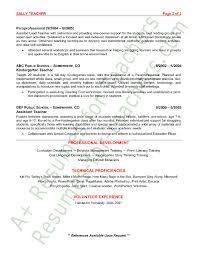 Preschool Teacher Resume Sample Resume Format Printable Day Care