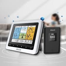 waterproof wireless weather station forecast temperature sensor barometer digital outdoor thermometer hygrometer alarm clock ndda48192