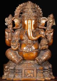 sold brass seated ganesha statue 11