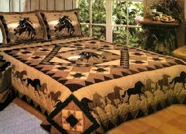 American Hometex 4888-Q Country Cowboy Horse Quilt Handmade Queen ... & American Hometex 4888-Q Country Cowboy Horse Quilt Handmade Queen Size  Bedding by American Hometex Adamdwight.com