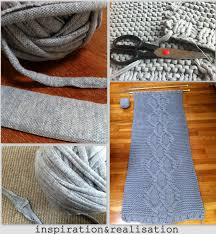 Fabric Rug Making Inspiration And Realisation Diy Fashion Blog Diy Giant Knitted Rug