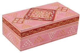 Decorative Wood Boxes With Lids SouvNear 100100x100100 Inch Wood Pink Jewelry Box Decorative Wooden 20