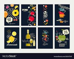 Menu Design Templates Set Of Menu And Brochure Design Templates