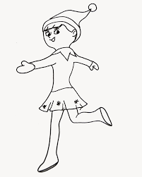 Elf On The Shelf Coloring Pages Inspiring Celebrate Christmas Of