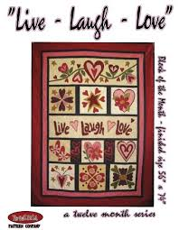 block of the month live laugh love
