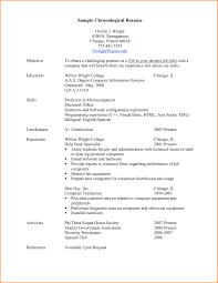 Resume Chronological Template Sample Chronological Resume Resume