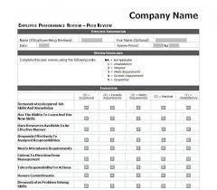 Employee Evaluation Form Template | Iancconf.com