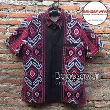La rosa jakarta on instagram: Jual Kemeja Tenun Premium Original Handmade Kt047 Kab Jepara Kencana Tenun Tokopedia