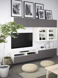 TV wall styling idea via