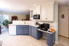 Computer Kitchen Design Amazing A True Blue Kitchen Remodel ReNew Creations Vancouver WA