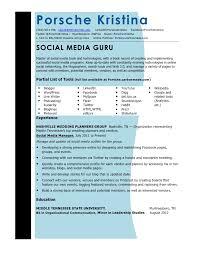 Social Media Resume Impressive Updated Social Media Resume