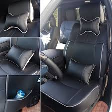 100 pu leather seat cover for 2009 2017 dodge ram 1500 2500 black w