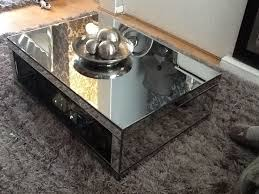 immaculate next mirrored coffee table