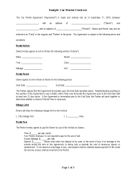 Car Lease Agreement Form - Tier.brianhenry.co