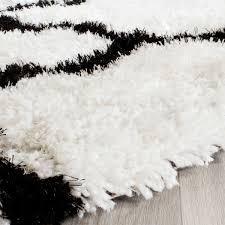 white shag rug. Barcelona Shags Black White Shag Rug Safavieh Com Antique And Briliant 1