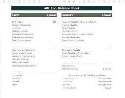 Financial Balance Sheet Template Accounting Balance Sheet Template Excel