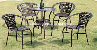 2016 new outdoor resin wicker stackable coffee tables and chairs set