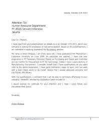 Fair Resume Cover Letter Sample For Fresh Graduate For Job