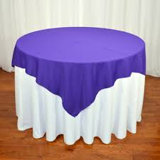 Burlap Round Table Overlays High Quality Polyester Table Overlay