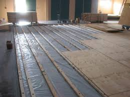 how to install engineered wood over concrete howtos diy plywood suloor over concrete in sub floor