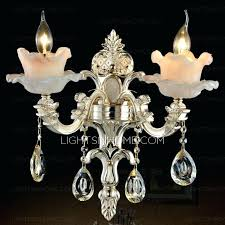 sconces wall sconces with candle holders luxury 2 light alloy crystal sconce holder decorative india