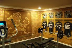 alt the university of notre dame locker room mural