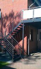 Treppe metall mit podest wpc, 5 stufen + 2 geländer. Balkon Verzinkt In Treppen Gunstig Kaufen Ebay