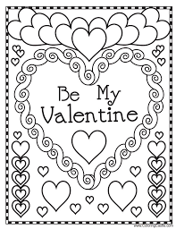 Small Picture Unusual Design Kids Valentine Coloring Pages Preschool Valentines
